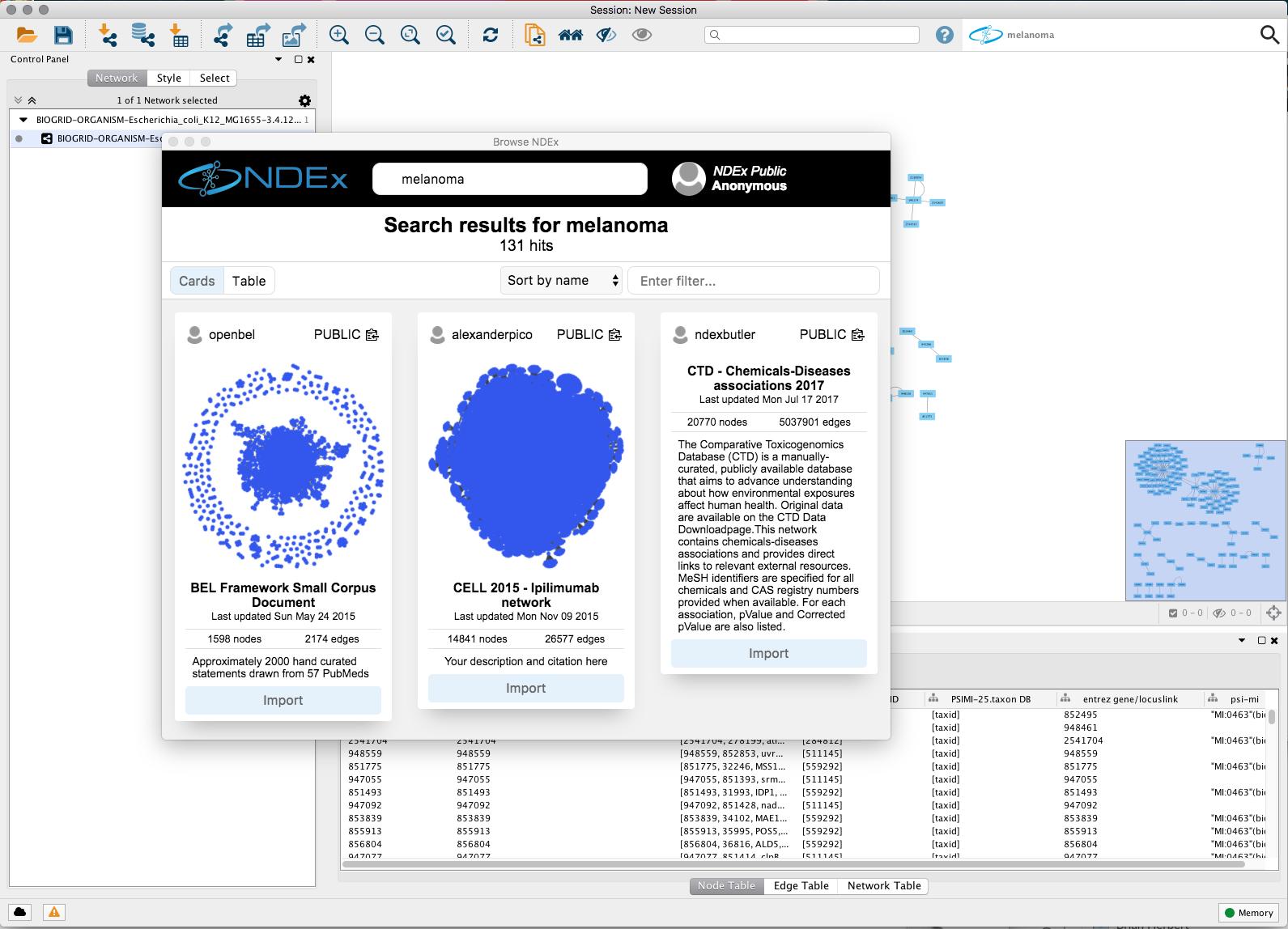Cytoscape App Store - CyNDEx-2